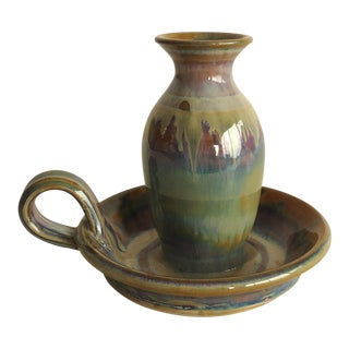 20th Century Organic Modern Art Pottery Chamber For Sale