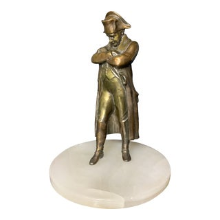 Mid 20th Century Napoleon Bonaparte Statuette on the Onyx Disk Base For Sale