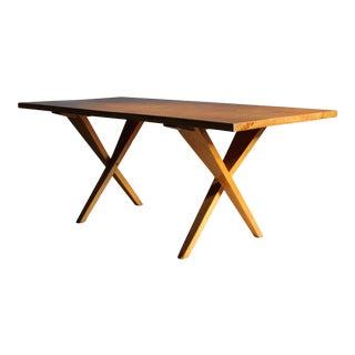 1940s Dan Johnson Style Modernist Pine Writing Table For Sale