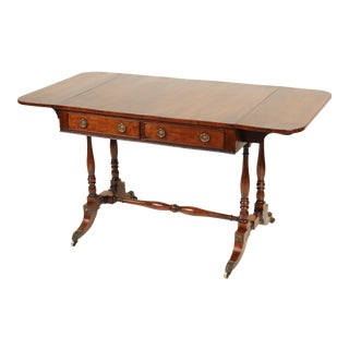 English Regency Period Rose Wood Sofa Table For Sale