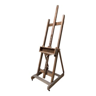 Vintage Farmhouse Reclaimed Wood Rustic Art Easel For Sale