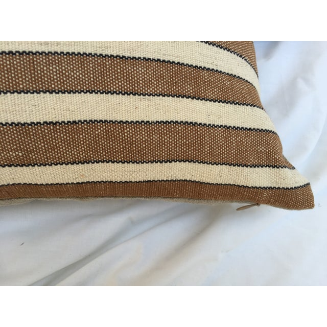 Striped Woven Neutral Pillows - Pair - Image 4 of 7
