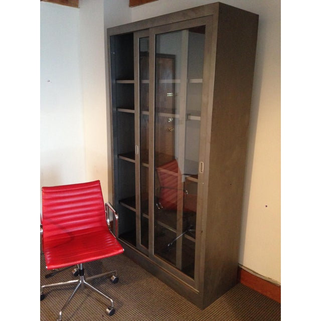 Mid 20th Century Vintage Industrial Metal Display Cabinet For Sale - Image 5 of 12
