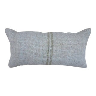 1960s Vintage Farmhouse Hemp Pillow For Sale