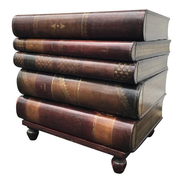 Maitland-Smith Stacked-Book-Shaped Side Table - Image 1 of 7