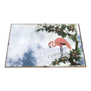 Mid Century Flamingo Mirror