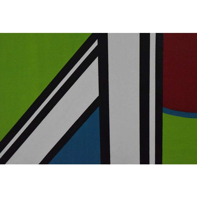 early 20th Century Mondrian Style Geometric Acrylic Painting For Sale In Dallas - Image 6 of 8