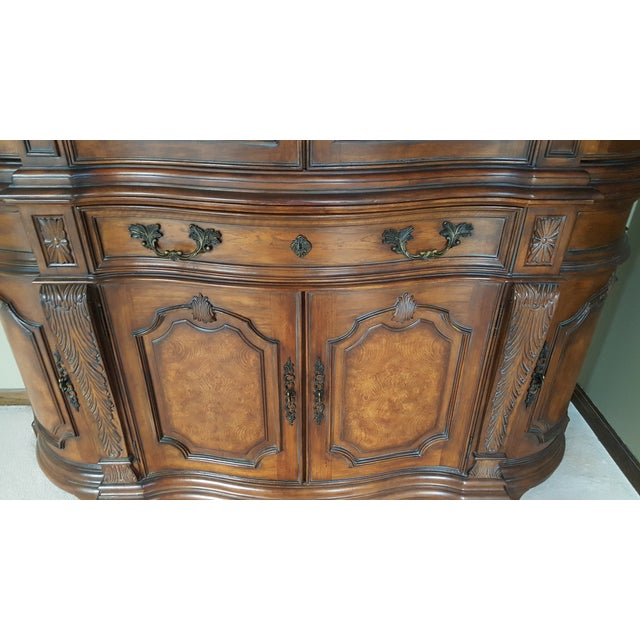 Drexel Heritage Talavera Tuscan China Cabinet For Sale In Chicago - Image 6 of 8