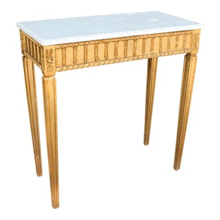 French Country Wooden Top Occasional Table For Sale