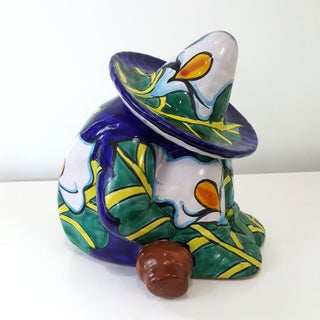 Vintage Talavera Mexican Pottery Sleeping Man Cookie Jar Preview