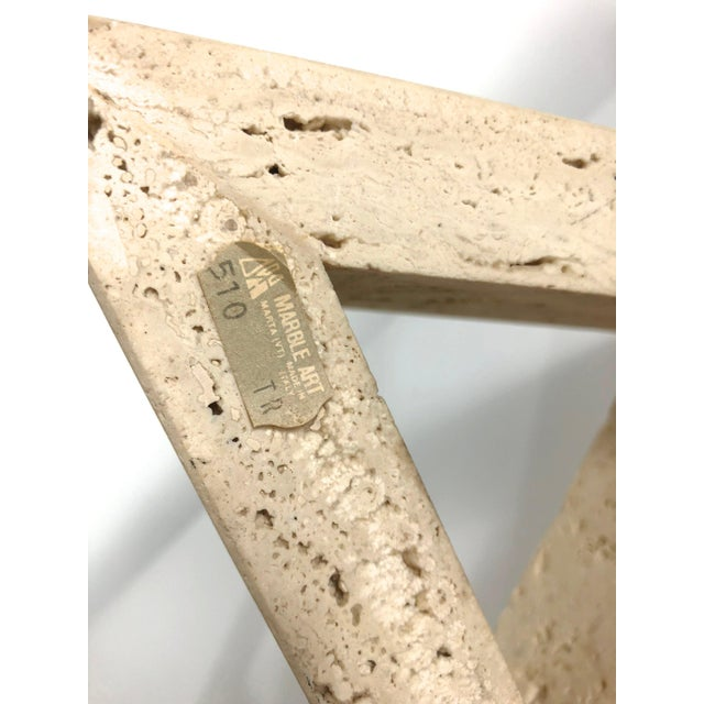 1960s Fratelli Mannelli for Raymor Triangle Travertine Bookends - a Pair For Sale In Detroit - Image 6 of 10