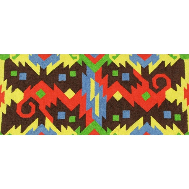 Edward Fields Pair of Edward Fields 1972 Colorful Geometric 6' X 8' Rugs For Sale - Image 4 of 8