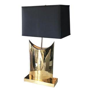1950s Italian Pierre Cardin for Coconut Company Brass Table Lamp