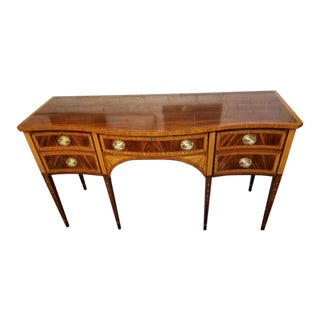 Councill Craftsmen Banded and Inlaid Mahogany Federal Style Sideboard For Sale