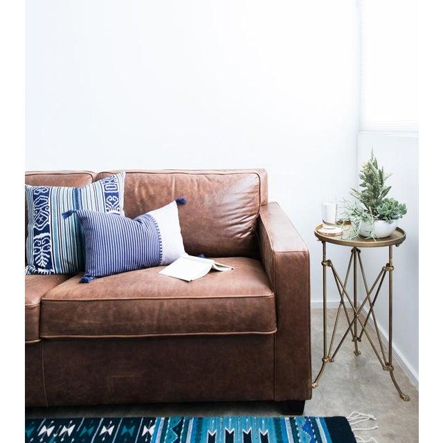 Indigo & Teal Guatemalan Ikat Pillow - Image 4 of 6