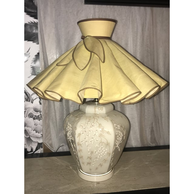 Art Deco Mid Century Chapman Style Art Deco Chinoiserie Table Lamp With Shades - a Pair For Sale - Image 3 of 7