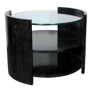 Ebonized Cerused Oak Cocktail/ Side Table by Jay Spectre For Sale