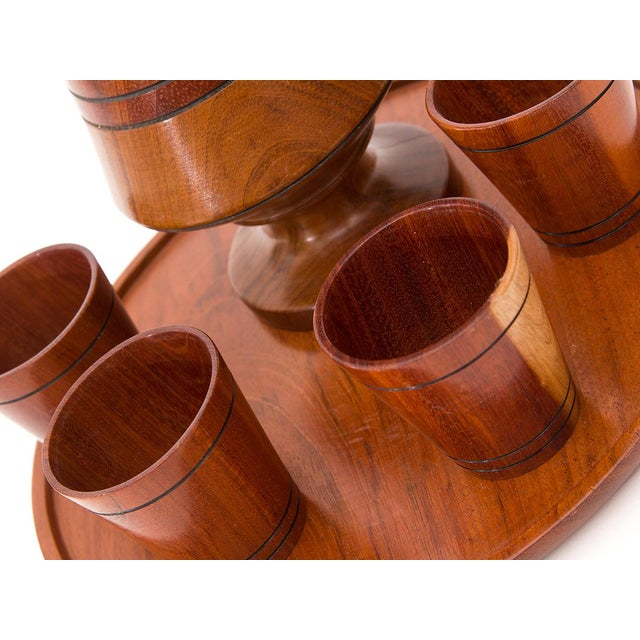 1970s Vintage Wooden Cocktail Serving Set - Set of 6 - Image 2 of 4