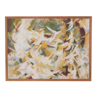 Mid-Century Abstract Artwork by Artist E. Andersen For Sale