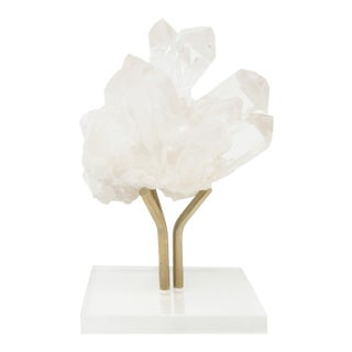 Camia. White Crystal Sculpture. For Sale