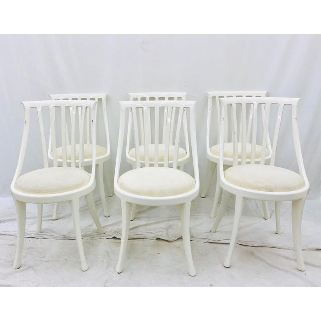 Poltrana Frau Set Vintage Poltrona Frau Dining Chairs For Sale - Image 4 of 13