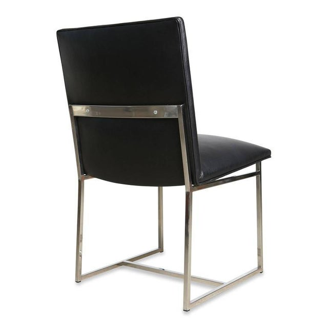 Milo Baughman Dining Chairs Reupholstered in Edelman Leather, Circa 1970 - Set of 8 - Image 8 of 8
