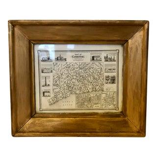 1842 J H Goldthwait Miniature Map of Connecticut For Sale