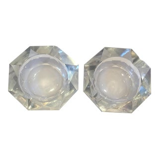 Cartier Crystal Ashtrays - A Pair For Sale
