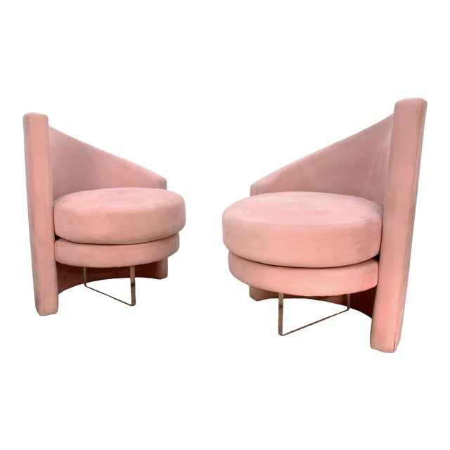 1970s Vintage Vladimir Kagan Style Chairs- a Pair For Sale