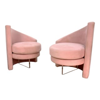 Last Markdown 1970s Vintage Vladimir Kagan Style Chairs- a Pair For Sale