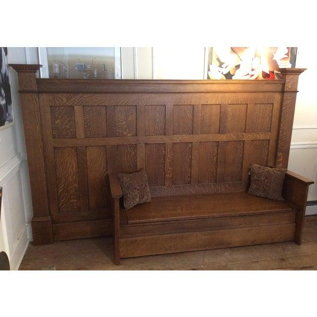 Vintage Sawn Oak Bench - Image 5 of 11