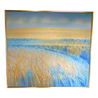 """""""Gold Barley"""" Oil on Canvas by Robert Hurdle"""