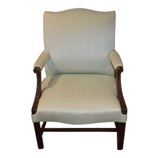 Vintage Carved Chippendale Style Armchair