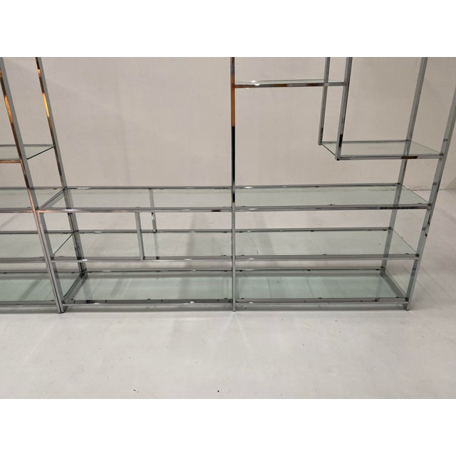 Metal 1970s Milo Baughman Style Chrome Etagere For Sale - Image 7 of 13