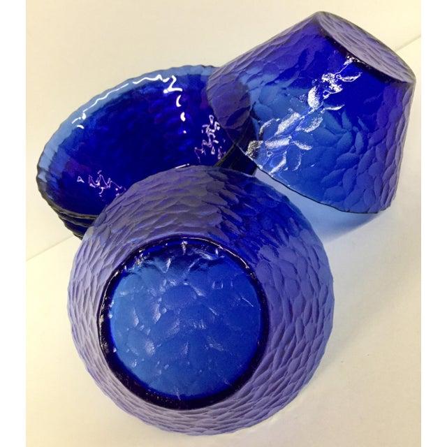 1960s Vintage Cobalt Blue Bowls - Set of 6 For Sale - Image 10 of 11