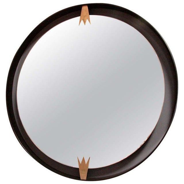 Iron and Brass Moderne Mirror For Sale In Los Angeles - Image 6 of 6
