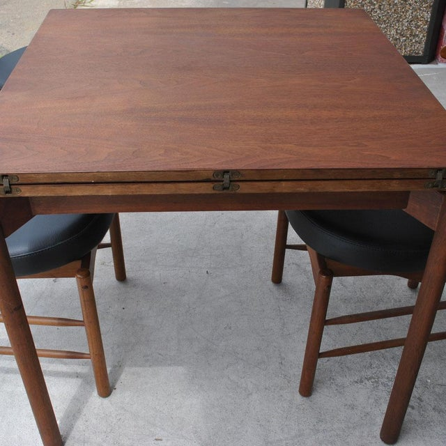 1960s Vintage Greta Grossman Teak Expandable Dining Table and Chairs - 5 Pieces For Sale - Image 10 of 12