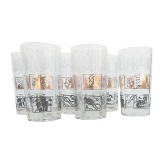 Nautical Highball Glasses - Set of 6