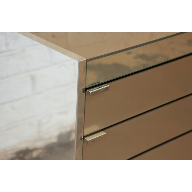 Guy Barker for Ello Mid-Century Mirrored Chest of Drawers - Image 9 of 9