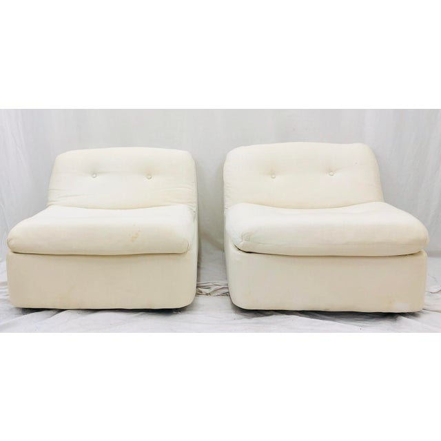 Contemporary Vintage Contemporary Modern Slipper Chairs For Sale - Image 3 of 13