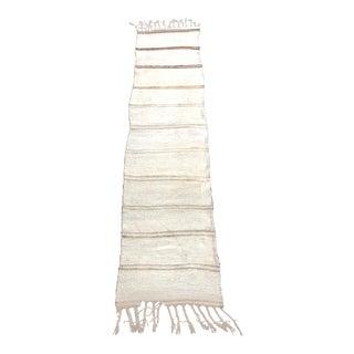 Vintage Striped Turkish Anatolian Hemp Kilim Runner Rug For Sale