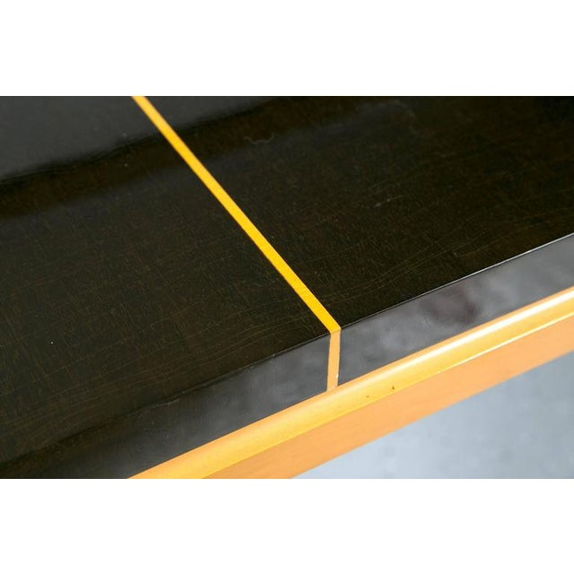 Tommi Parzinger Inlaid Mahogany Dining Table - Image 7 of 9