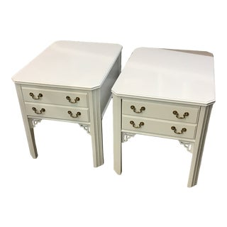 Chippendale Lacquered End Tables by Lane - a Pair For Sale