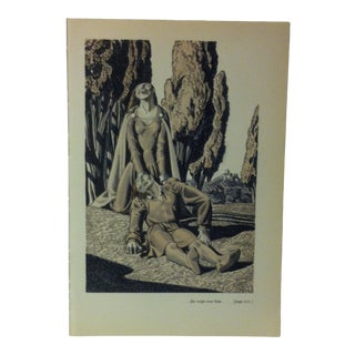 """1949 """"She Wept Over Him"""" the Decameron of Giovanni Buccaccio Illustrated Print For Sale"""