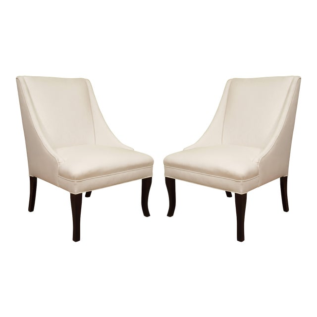 Vintage Slipper Chairs - A Pair For Sale
