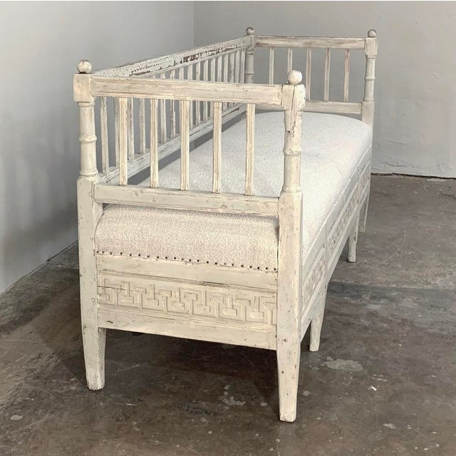 Gustavian (Swedish) 19th Century Swedish Painted Day Bed ~ Bench For Sale - Image 3 of 13