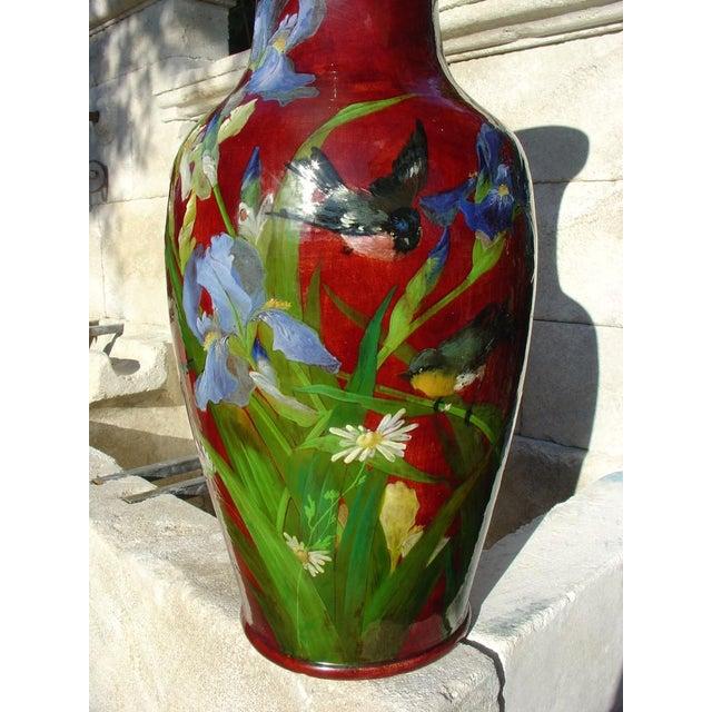 Antique Grande 'Bourg La Reine' Vase For Sale - Image 9 of 9