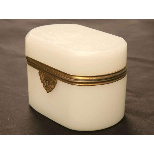 French Circa 1900 French Opaline Glass Box For Sale - Image 3 of 10