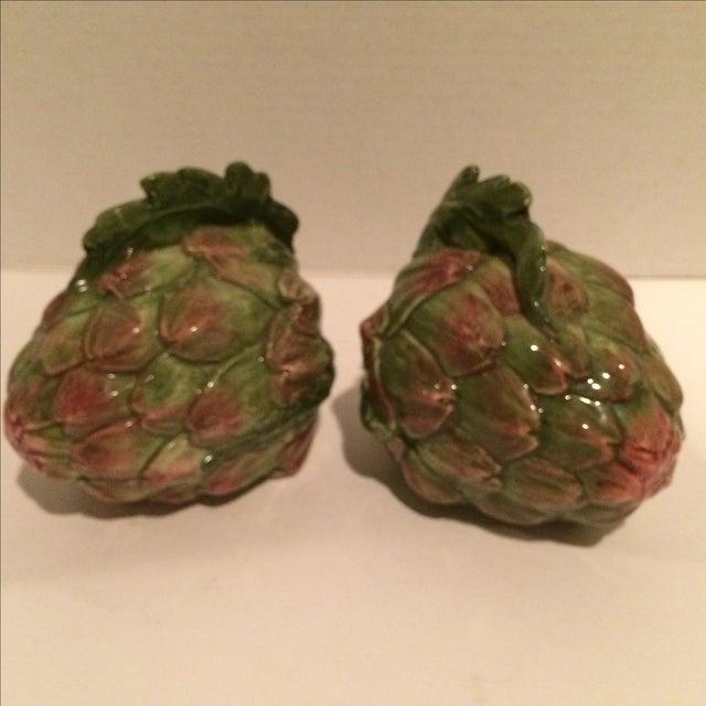 Decorative Ceramic Artichokes - Pair - Image 6 of 7