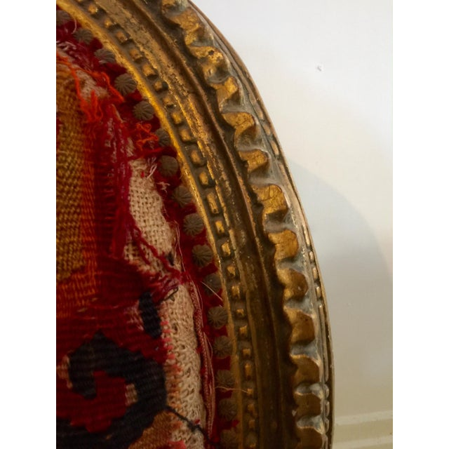 Amazing French Arm Chair Covered in an Antique Turkish Kilim Fabric For Sale - Image 9 of 11